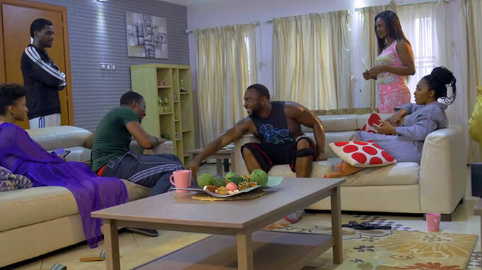 Couple of days production still: Enyinna Nwigwe, Lilian Esoro, Ademola Adedoyin, Kiki Omeili, Okey Uzoeshi, Adesua Etomi